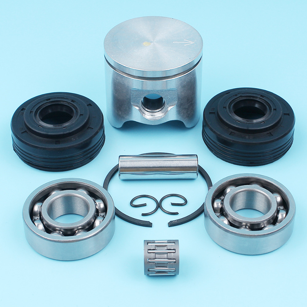 42mm Piston Ring Crank Oil Seal Needle Bearing Kit For Husqvarna 340 345 346 Chainsaw Circlip Pin # 503 90 73-71 503907371