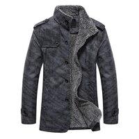 2017 New Jackets Men Winter Jacket Homme PU Solid Windproof Overcoat Slim Fit Casual Outwear Fashion