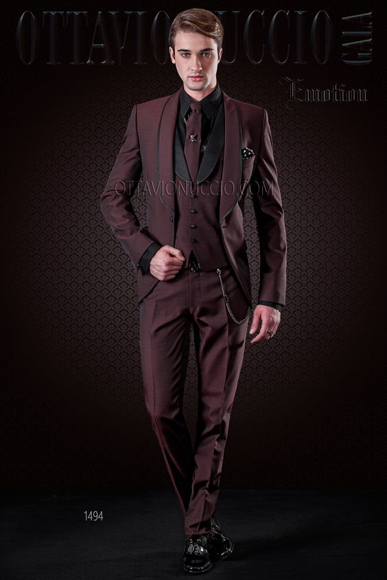 Latest Coat Pant Designs Italian Burgundy Groom Men Suit Slim Fit Skinny 3 Piece Tuxedo Custom Prom Suit Blazer Terno Masculino