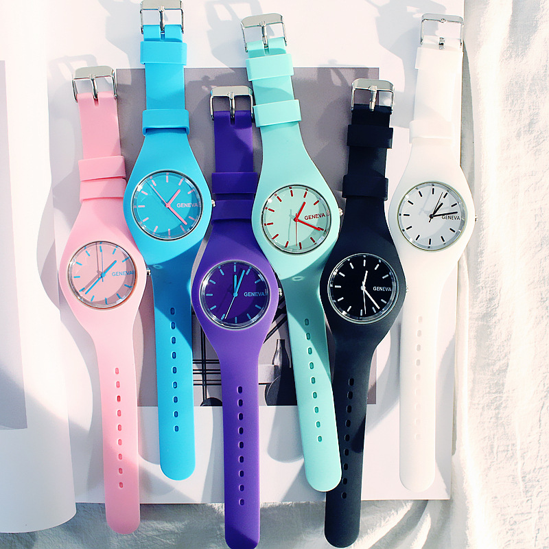 Korean Trend Harajuku Style Watch Girl Couple Students Boy Simple Japanese Jelly Quartz Personalized Gift Woman 2019