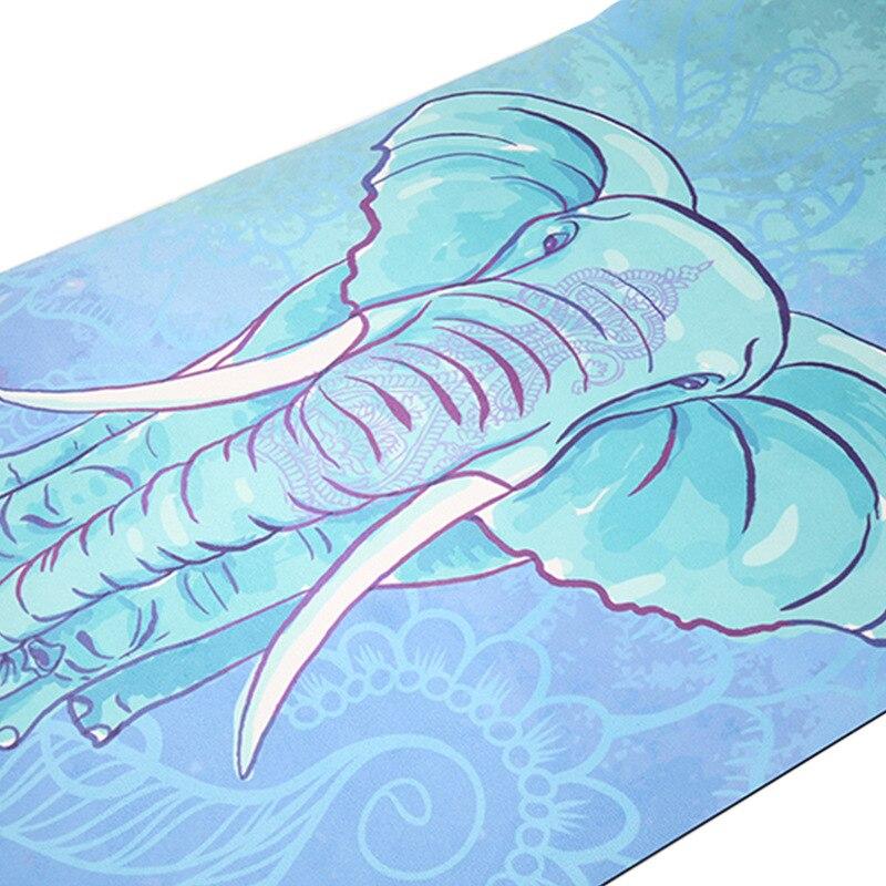 Tapis de yoga en daim tapis de fitness antidérapant de haute qualité tapis de fitness professionnel 3.5mm tapis de yoga portable en caoutchouc naturel yoga m