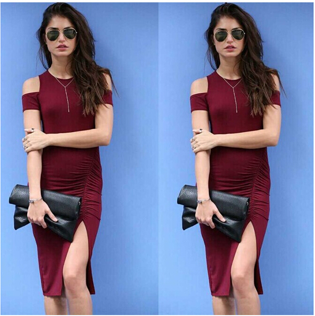 Solid colored dress