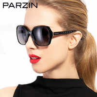 PARZIN Polarized Sunglasses Women Fashion Oversized Female Sun Glasses For Driving Oculos De Sol Feminino With Case 9501