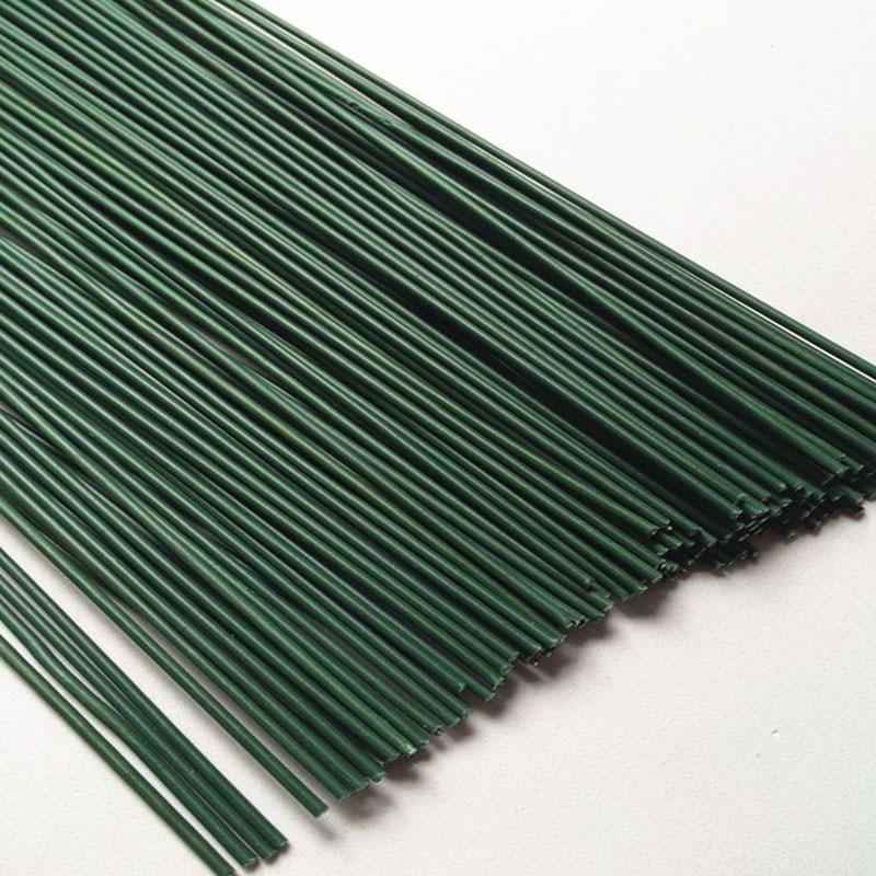 50 Pcs No 2 Plastic Flower Rod 0.2mm/0.0026Inch Diameter 40cm Long Iron Wire Used For DIY Nylon Stocking Flower Making
