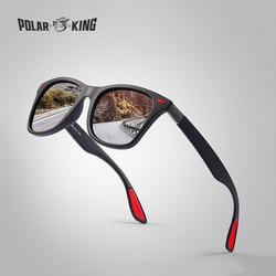 POLARKING العلامة التجارية الرجال أزياء النظارات الشمسية المستقطبة للقيادة البلاستيك الأشعة فوق البنفسجية حماية نظارات مصمم السفر نظارات شمسية