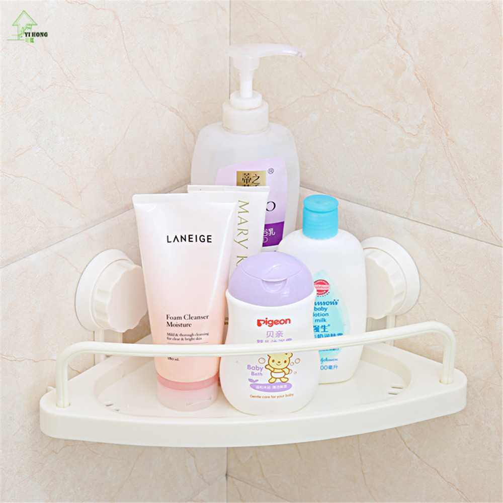 YIHONG Plastic Bath Corner Shelf bathroom triangle towel shelf ...