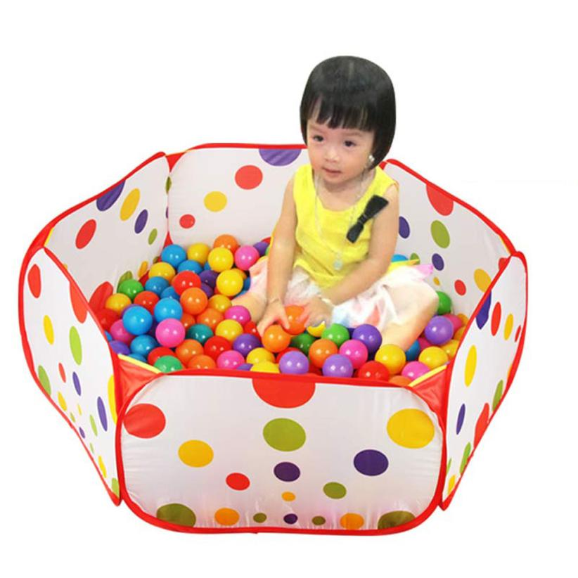 2017 New Arrival Hexagon Polka Dot Children Ball Play Pool Tent Carry Tote Toy Inflatable Ball Pool For Kids Children Oyuncak