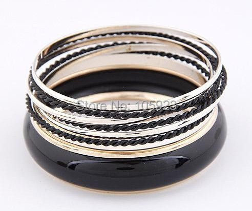 multi bracelet punk stylish bracelet lady fashion Bangles free ship