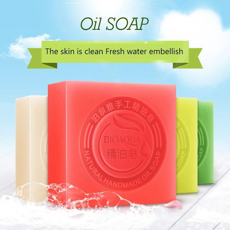 Hot BIOAQUA Natural Handmade Oil Soap Fresh Clean Skin Nourish Tender Whitening Remove Blackhead Acne wyt77