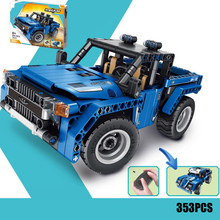 Remote radio control 2in1 technics Pickup truck building block 2.4Ghz 4x4 Off-road vehicle car bricks model rc toys collection цена 2017