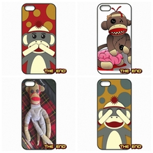 For Samsung Galaxy S2 S3 S4 S5 MINI S6 Active S7 edge Note 2 3 4 5 Funny & Cute Sock Monkey TPU Hard Phone Case Cover Shell
