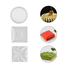 3D Silicone Cake Mold Mousse Chocolate Dessert Cake Bakeware Pan  Muffin Tray Mold Non-stick Baking Tools