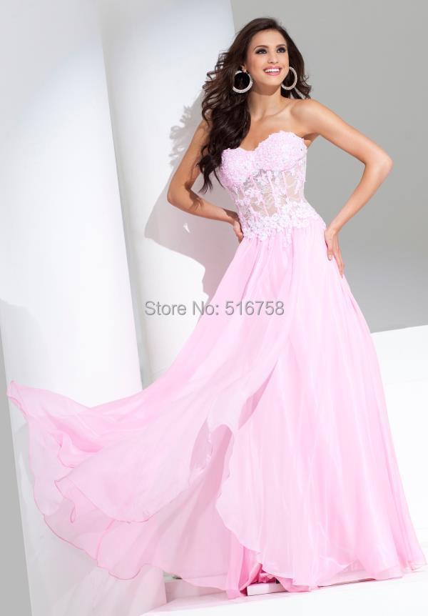 Magnífico Vestidos Corsé Prom Largo Cresta - Ideas de Vestido para ...