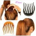Venta caliente Señora Styling Base Accesorio Hacedor herramientas de Punta del pelo peine del pelo de La Boda Accesorios de La Joyería envío gratis