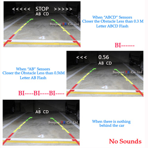 Image 2 - Koorinwooパークトロニック駐車場センサーナイトビジョン 8 ledライト車のリアビューカメラ 4.3 インチ折りたたみモニター画面デジタル