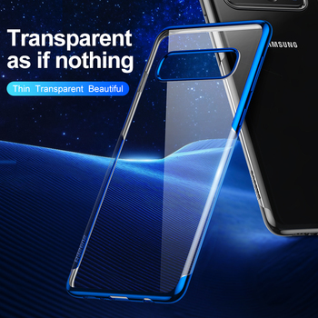 Baseus Luxury Plating Phone Case For Samsung Galaxy S10 Plus Coque Ultra Thin Soft TPU Silicone Back Cover For Galaxy s10 Fundas 1