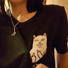 2017 Summer Cat Print T-shirt