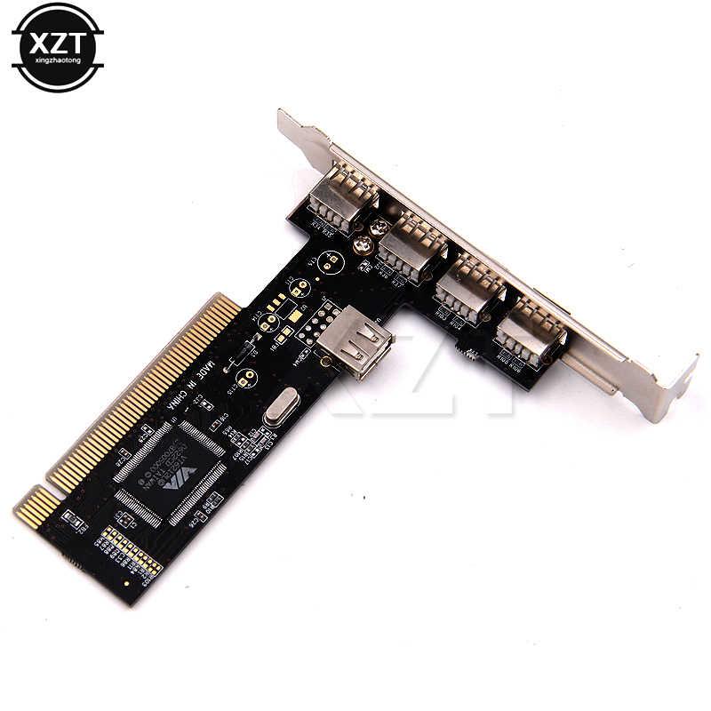 1 قطع عالية السرعة عبر محور PCI تحكم USB بطاقة 2.0 4 ميناء 480 ميغابت في الثانية محول PCI بطاقات
