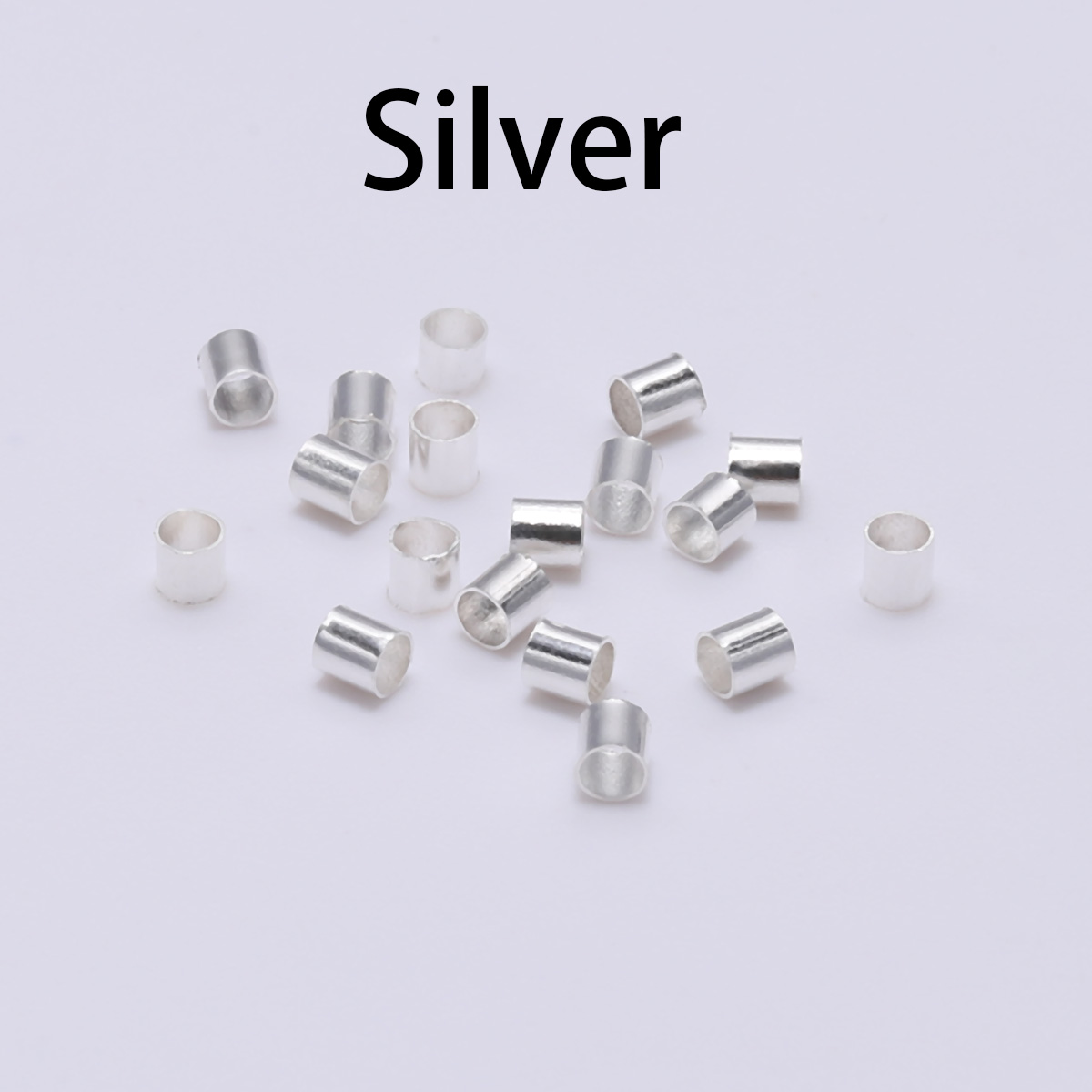 1000Pcs GOLD//SILVER Plated,COPPER,BLACK,Tube Crimp End Spacer BEADS 1.5MM 2.0MM