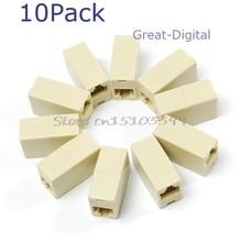 10x RJ45 Ethernet сети LAN штекер кабеля присоединиться разъем расширения адаптер Прямая поставка