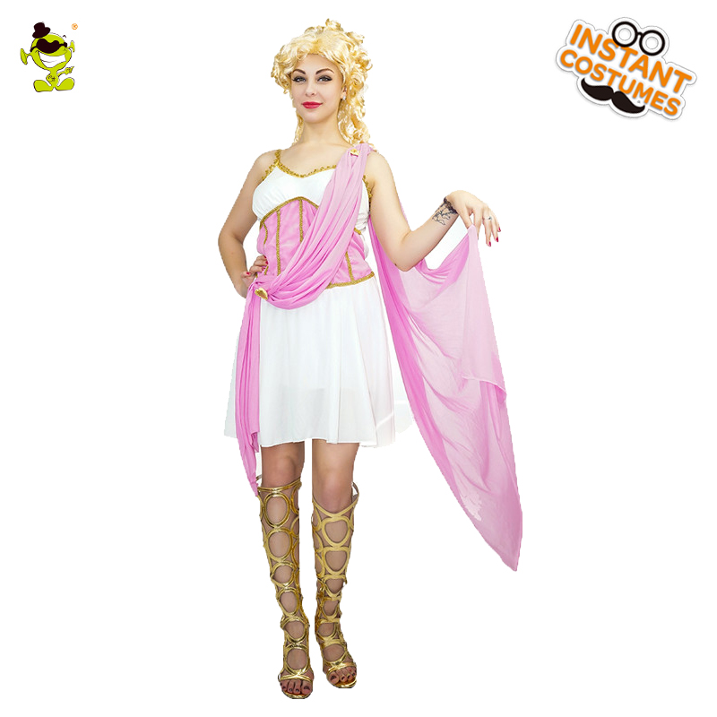 New Adult's Aphrodite Costume Women's Sexy Elegant Cosplay Outfits Carnival Role Play Noble Fancy Dress Cleopatra Costumes