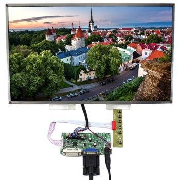 DVI VGA LCD Control Board With 17.3inch 1600x900 B173RW01 LP173WD1 LCD Screen