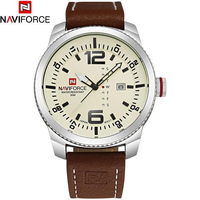 NAVIFORCE Brand Watches Men Quartz Sports Watches 30M Waterproof Japan Fashion Military Wristwatch Male Relogio Masculino 2017