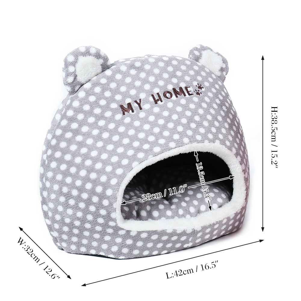 Free Shipping Cute Warm Soft House For Cat Basket Small Medium Puppy Litter Dog Bed Lounger For Animal Cama Home Kennel Cave #4