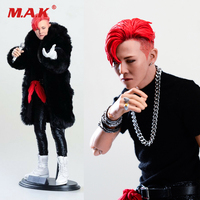 Collectible 1/6 Scale Asia Korea Super Star Male Singer G DRAGON Action Figure Head Body Microphone Accessories for Fans Gifts