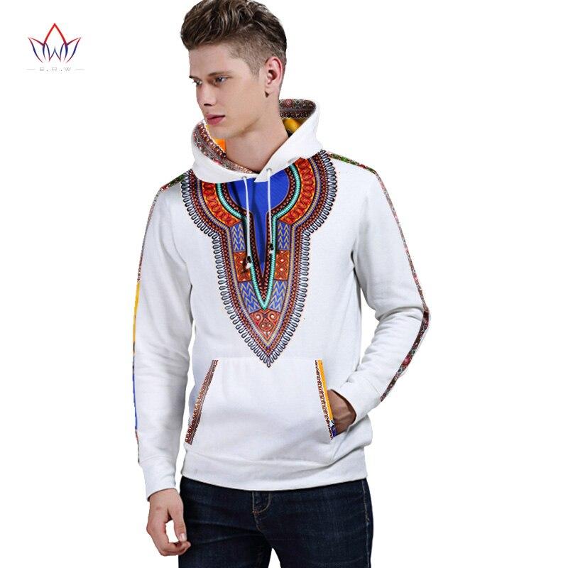 Hiver automne nouveaux hommes vêtements vêtements africains marque traditionnelle vêtements sweat à capuche pour homme vêtements blancs hommes Dahiki BRW WYN226 - 3