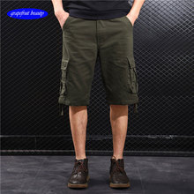 2019 Cargo Shorts Men Cool cotton Summer pants sarari Casuals trousers jeans joogers fitness Clothing Streetwear free