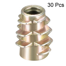 Uxcell 30pcs M4 M5 M6 Hex-Flush Threaded Insert Bronze Tone Zinc Alloy Furniture Nuts Wood Nut High Quality