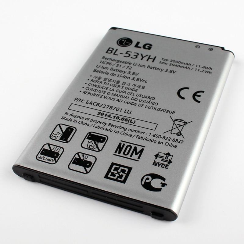 imágenes para Nuevo Original LG BL-53YH Batería para LG Optimus G3 D850 D830 D851 D855 LS990 F400 VS985 G3 LG (2017 año version)