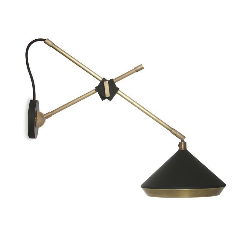 Nórdico pós de ferro moderna lâmpada estudo quarto corredor lâmpada de parede lâmpada de parede braço oscilante