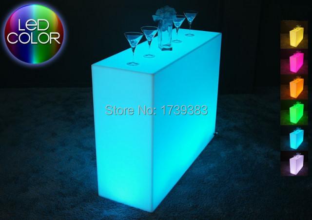 Controle Remoto luminoso LEVOU Balcão de Bar, Barra de Quebrar, Quebra LEVOU Linha de Mesa de Bar, Rundbar recarregável LED Bartresen móveis