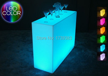 Luminous Remote control LED Bar Counter,Break Bar,LED Break Line Table,rechargeable Rundbar Bartresen furniture
