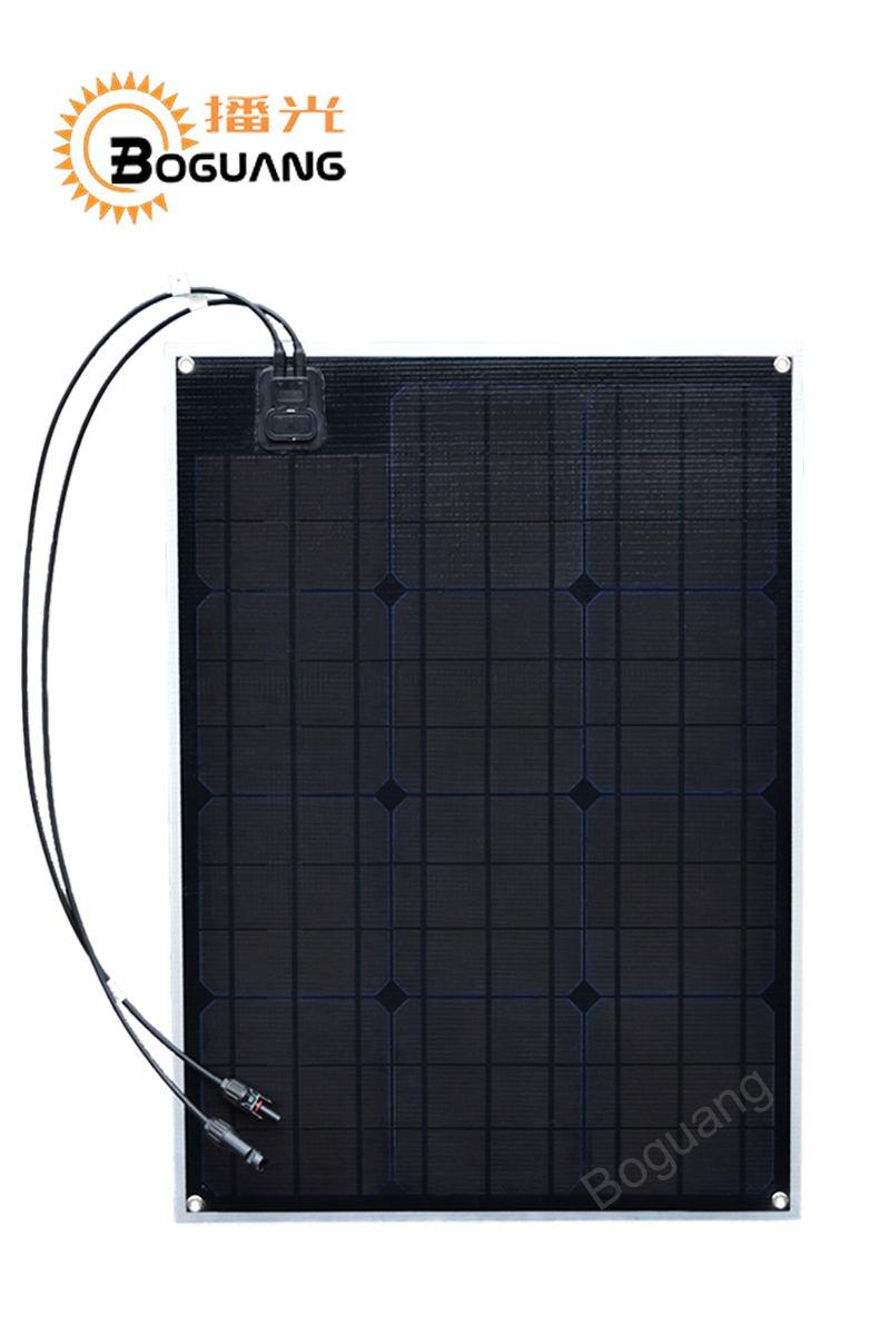 Connecteur MC4 de module de carte PCB de cellule de silicium monocristallin du panneau solaire 156*156mm de Boguang 50 w ETFE pour la charge de voiture de yacht de RV de la caserne 12 v