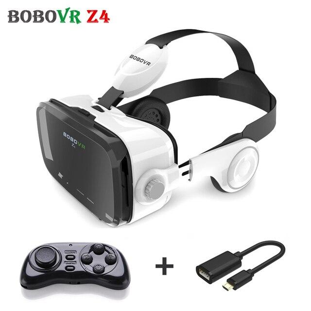 Xiaozhai Bobovr Z4 3D Очки Виртуальной Реальности 360 Просмотра Кожа vr Картонную коробку Гарнитура 120FOV для 4 ~ 6' + Пульт дистанционного управления