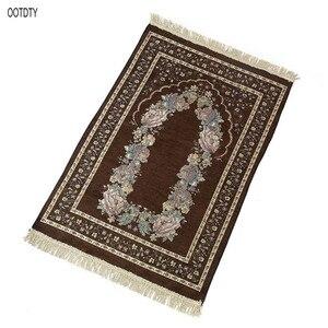 Image 4 - 70 × 110 センチメートルトルコイスラム教徒祈りラグマットヴィンテージ色の花ラマダンeidギフト装飾カーペットとタッセルトリム