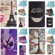 "XX For Samsung Galaxy Tab E 9.6"" SM T560 T561 Case Luxury Colorful Tower PU Leather wallet Skin Protector Tablet PC cover"
