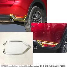 Горячая Распродажа кузова ABS хром крышка trim tail заднего Туман свет лампы рамка stick 2 шт. для Mazda CX-5 CX5 2nd Gen 2017 2018