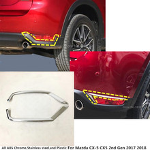 car body ABS Chrome cover trim back tail rear fog light lamp frame stick 2pcs For Mazda CX-5 CX5 2nd Gen 2017 2018 2019 цена