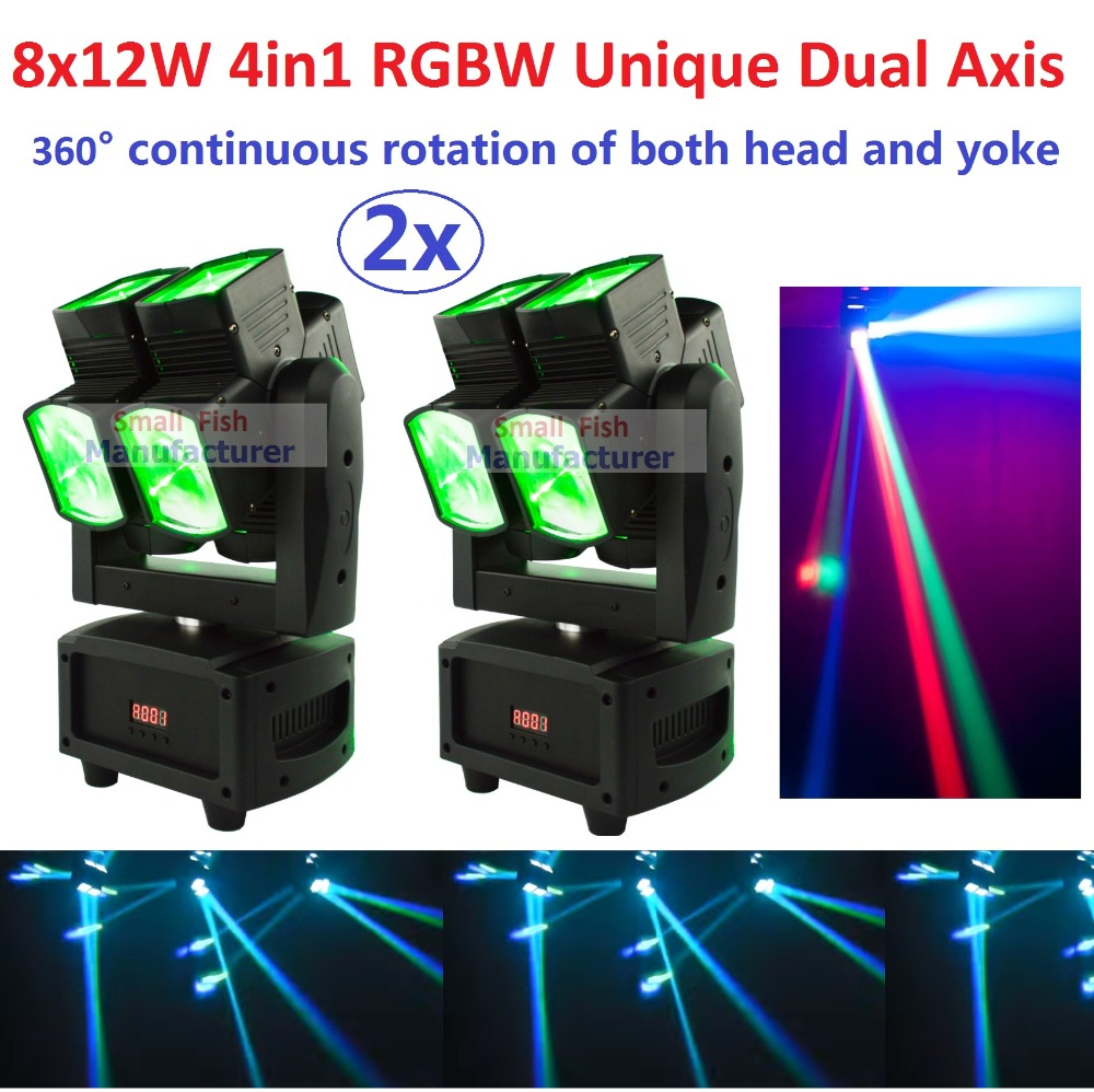 2xLot Hot 2017 ADJ Unique Dual Axis Led Moving Head Light Professional Dual Heads DJ Stage
