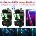 2xLot Hot 2017 ADJ Unique Dual Axis Led Moving Head Light Professional Dual Heads DJ Stage Beam Wash Moving 360 degree Rotation