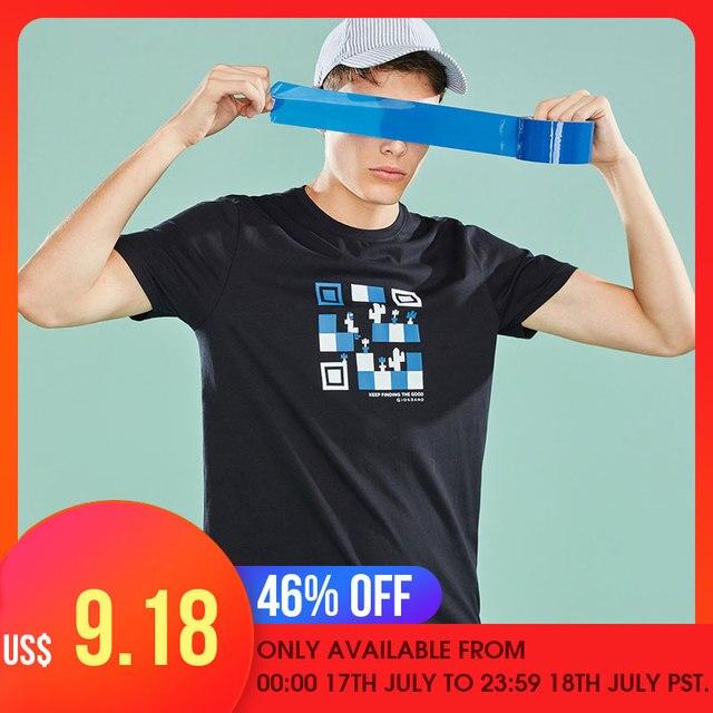 Kính mắt Giordano Nam Áo THUN Nam In Chữ Hoa Văn Giordano Nam Funny Áo Nam Tay Ngắn Bền Chất Liệu Vải Mềm Mại Camiseta