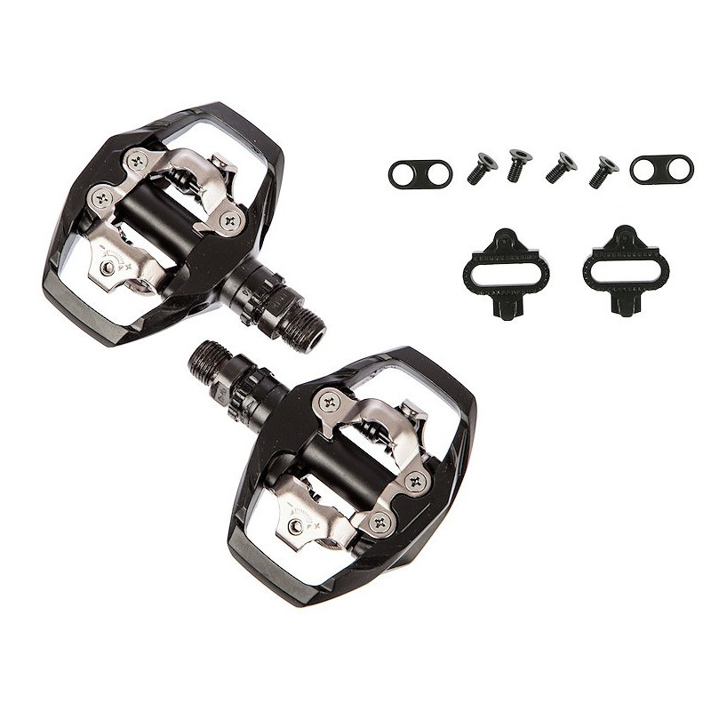 075ad56d0 Shimano PD M530 Mountain Bike Trail Dual Sided SPD Pedals  Cleats ...