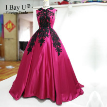 Real Photos Luxury Fushia Dresses 2017 Evening Dresses