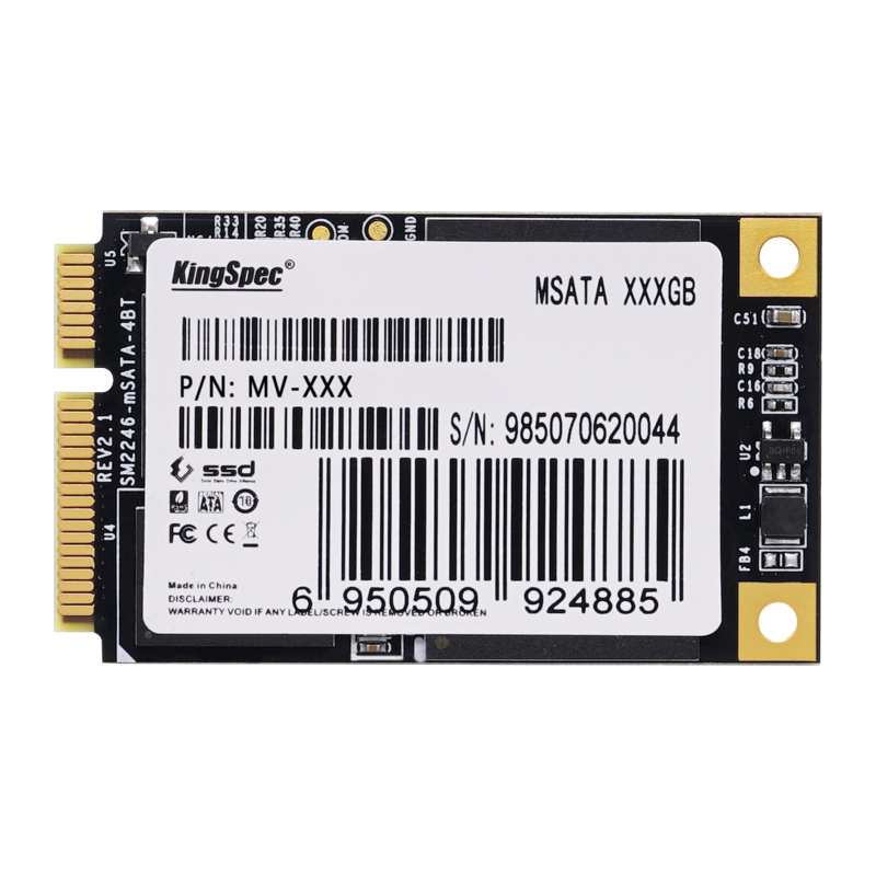 Kingspec mSATA SATA3 III 6 ГБ/сек. SATA2 II 256 ГБ ssd 250 ГБ жесткий диск твердотельный диск> Мини PCIe mSATA ssd 32 ГБ 128 ГБ 64 ГБ