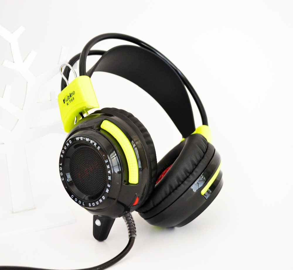 K-T03 Headband Shock Headset High-end Internet cafe special game audio and video headset straight 3.5MM + USB PC special headset enchanters end game