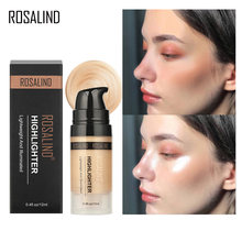 ROSALIND Makeup Highlighter Illuminator Professional Glow Shimmer And Shine Golden Rose Face Highlight Face Bronzer Maquillage(China)